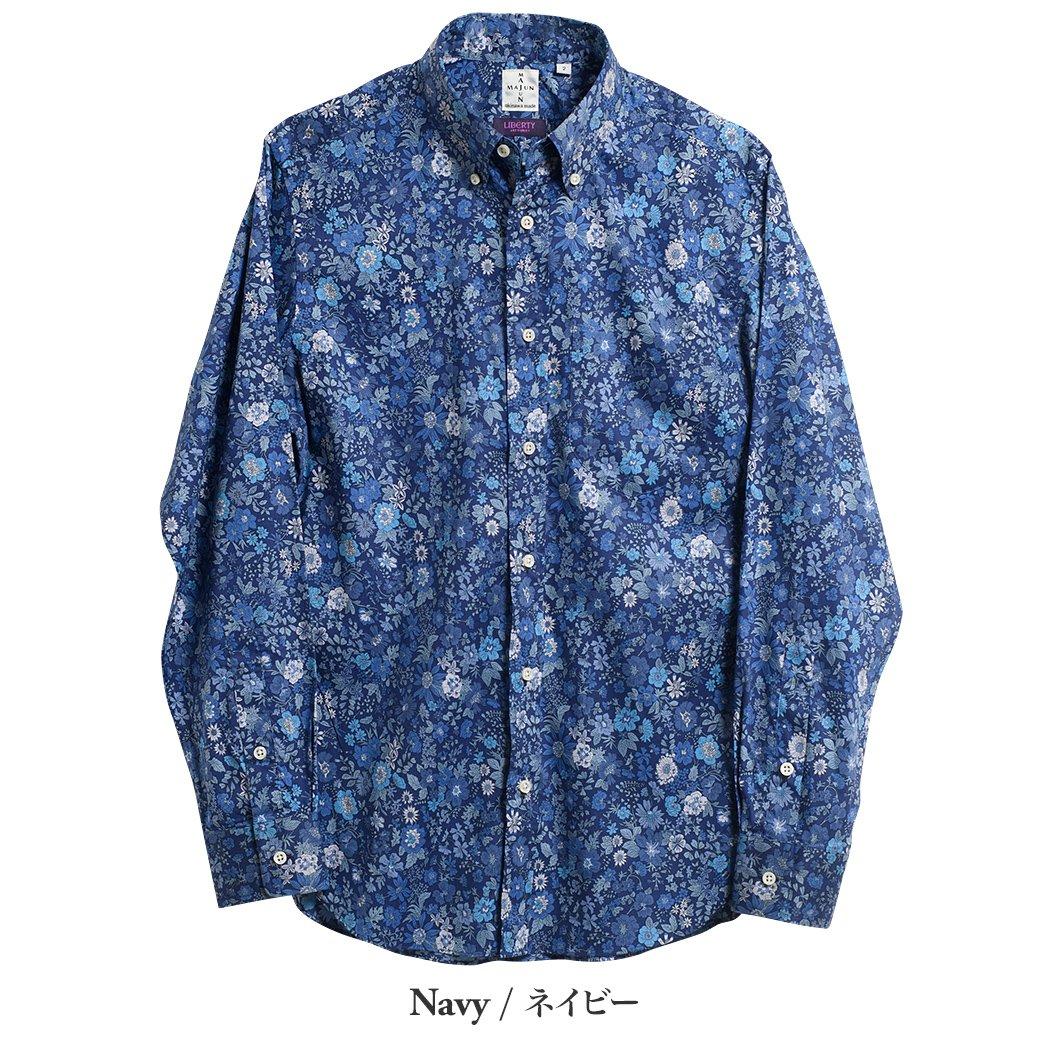 かりゆしウェア(沖縄版アロハシャツ) MAJUN - トロピカルエミリーL/S