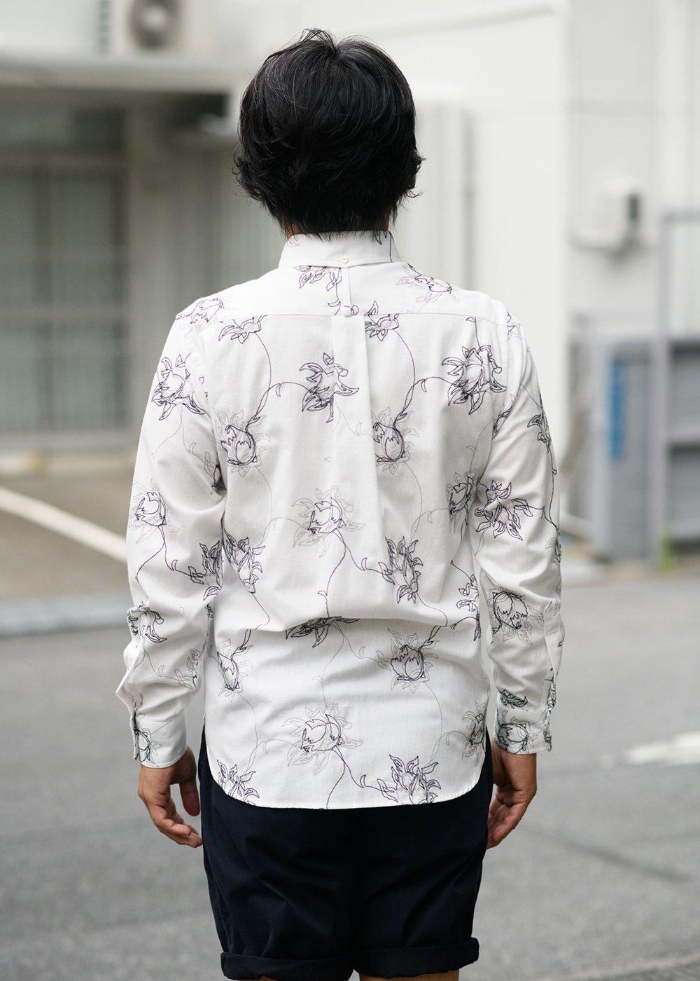 かりゆしウェア(沖縄版アロハシャツ) MAJUN - エンブロイダリーボルドL/S