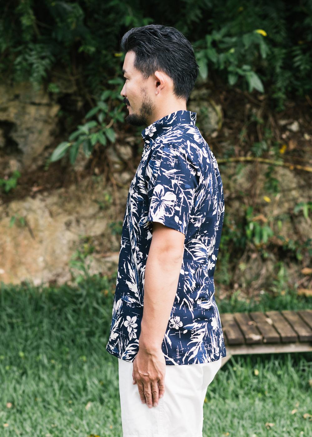 かりゆしウェア(沖縄版アロハシャツ) MAJUN - ミッドサマーブーケ