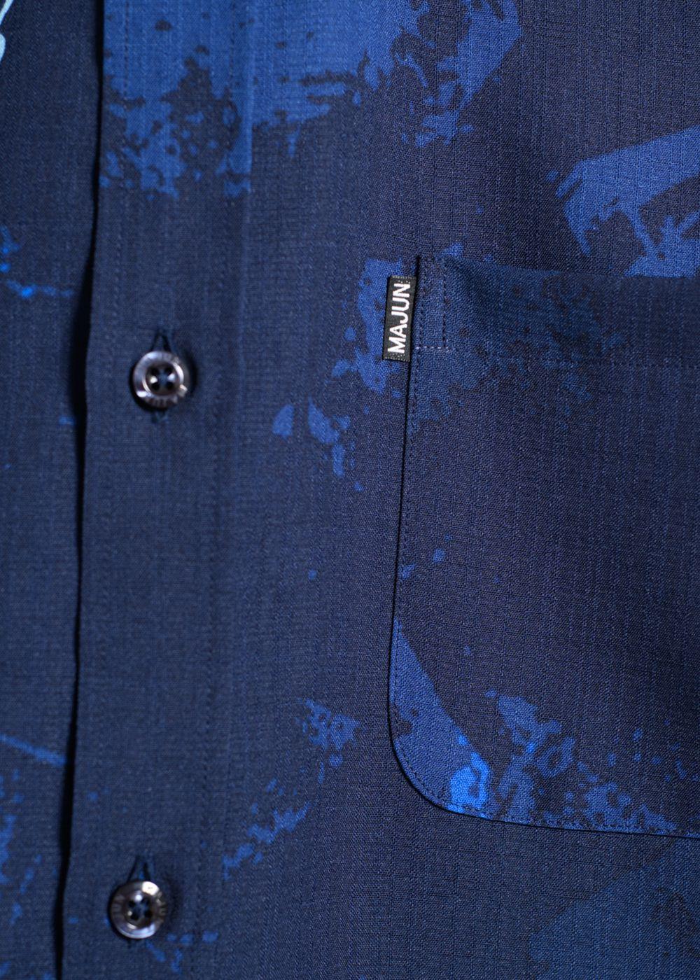 かりゆしウェア(沖縄版アロハシャツ) MAJUN - ブレイズウッド L/S