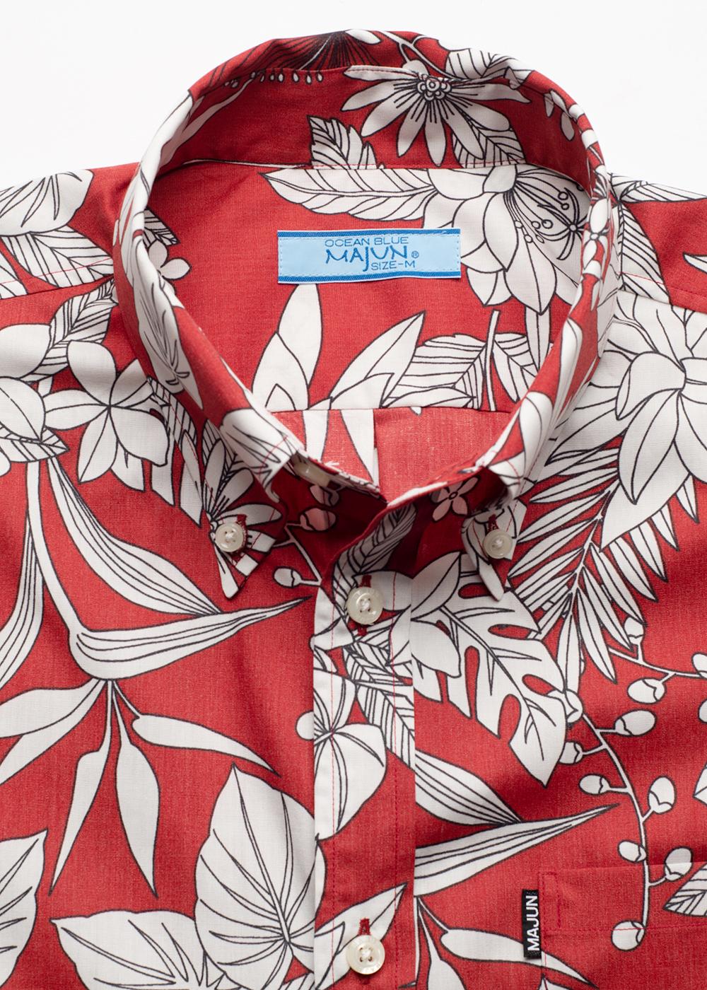 かりゆしウェア(沖縄版アロハシャツ) MAJUN - トロピカルブレンド