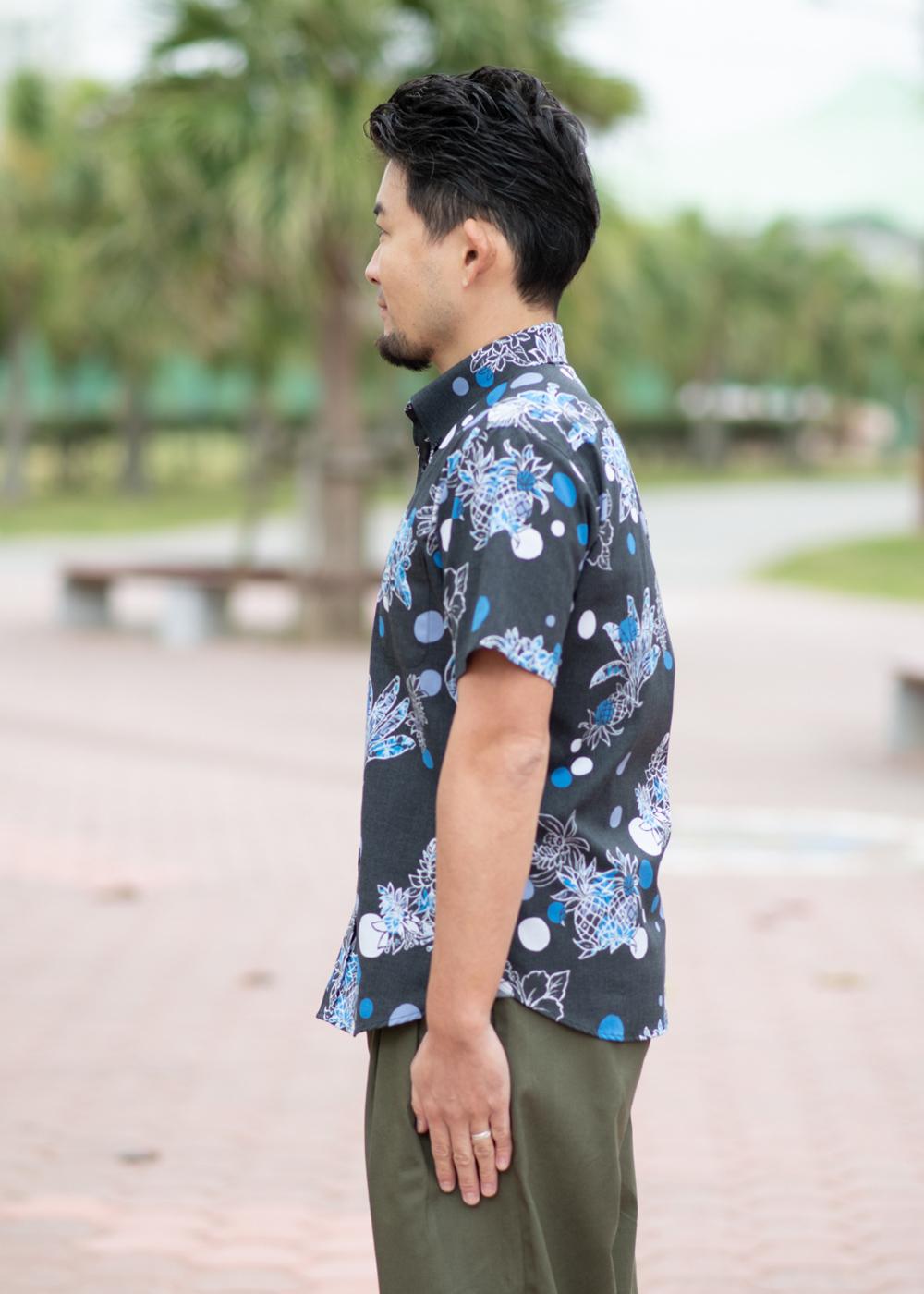 かりゆしウェア(沖縄版アロハシャツ) MAJUN - カラフルサワー