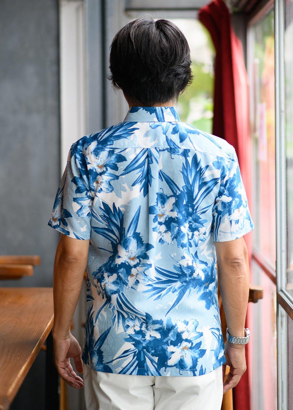 かりゆしウェア(沖縄版アロハシャツ) MAJUN - アザレアライト
