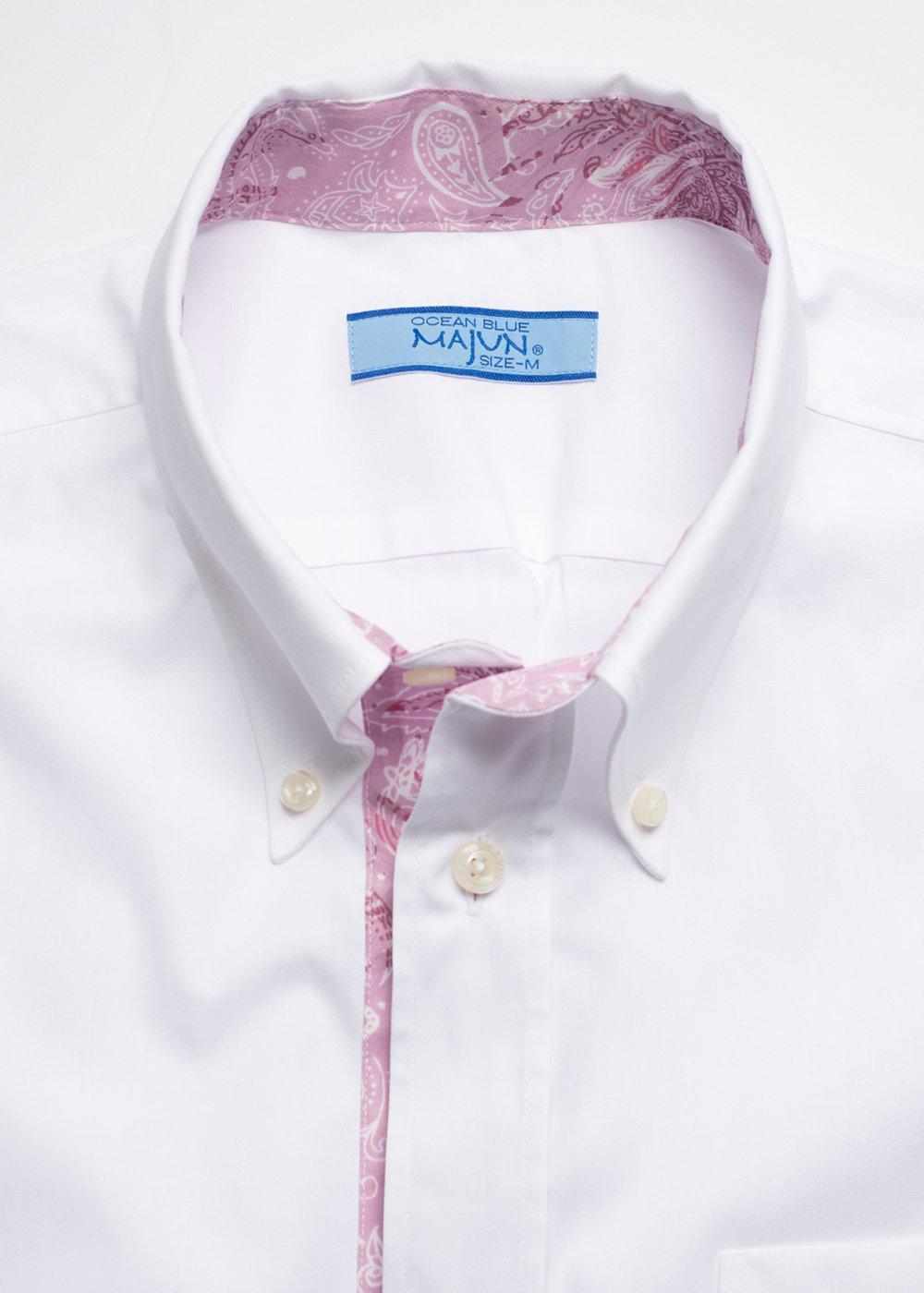 かりゆしウェア(沖縄版アロハシャツ) MAJUN - ココナッツペイズリー L/S