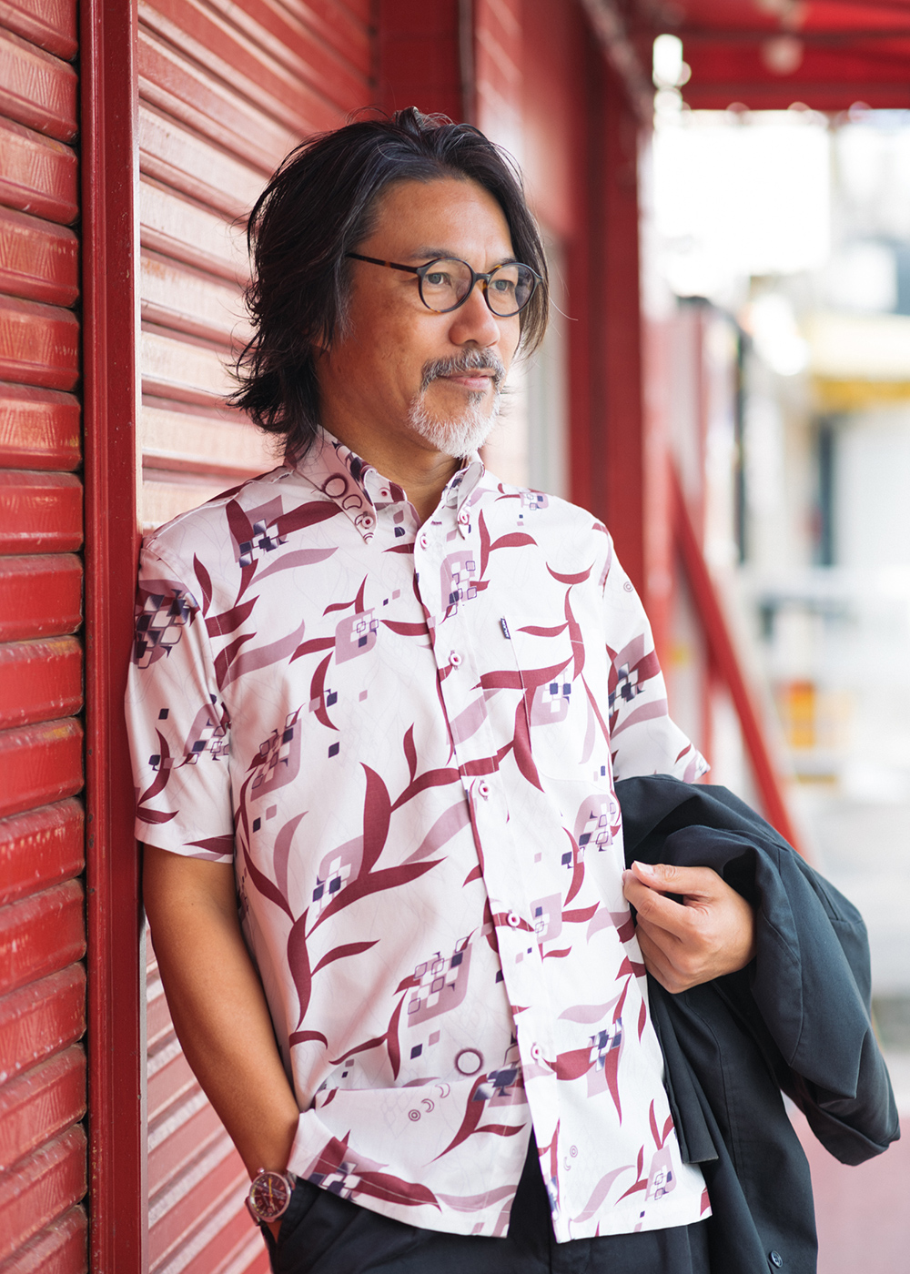 かりゆしウェア(沖縄版アロハシャツ) MAJUN - サンニンラゼンジ