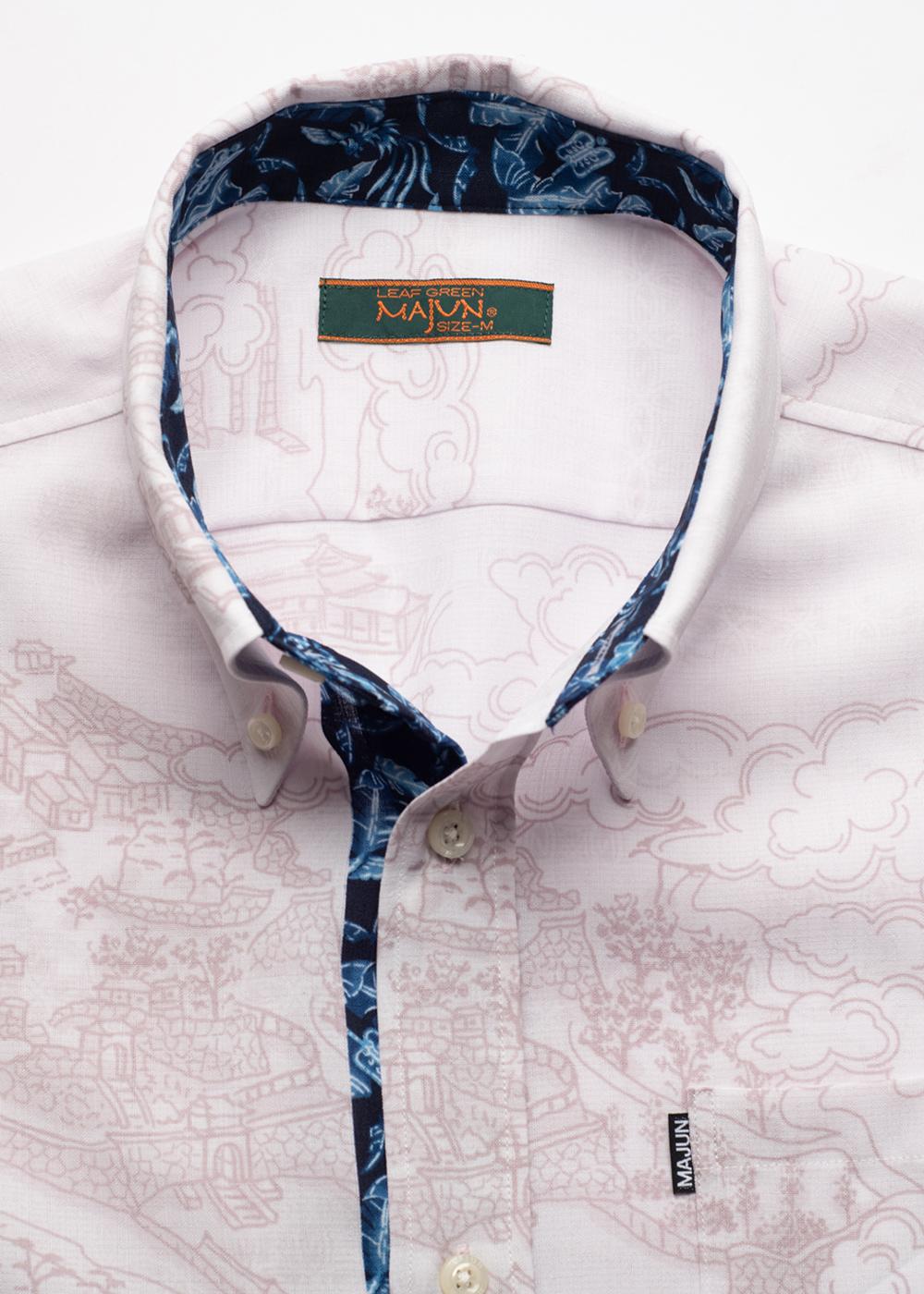 かりゆしウェア(沖縄版アロハシャツ) MAJUN - 琉球霞瓦