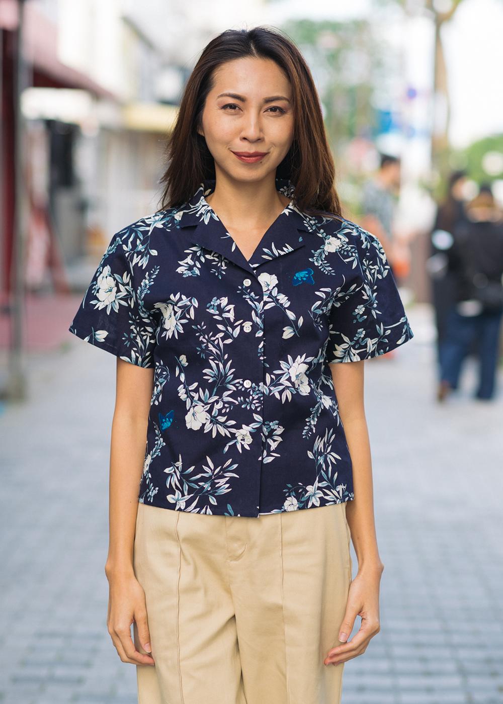 かりゆしウェア(沖縄版アロハシャツ) MAJUN - クリアボタニカル