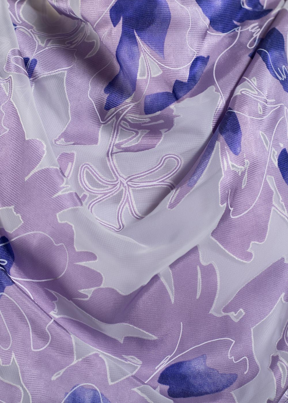 かりゆしウェア(沖縄版アロハシャツ) MAJUN - ベーシックバイオレット(ワンピース)