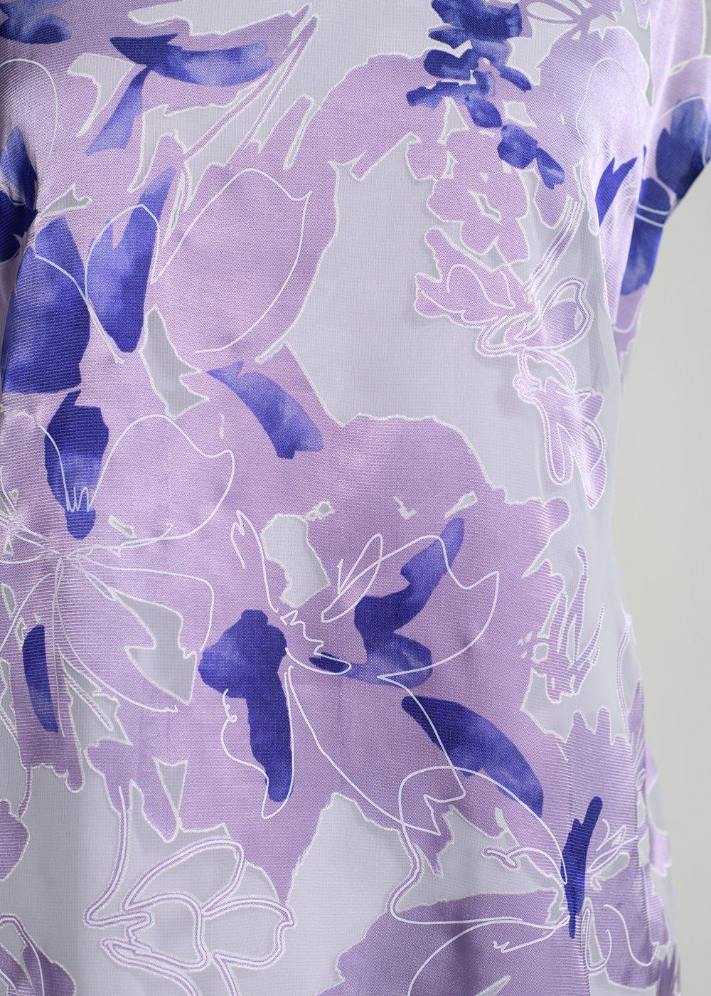 かりゆしウェア(沖縄版アロハシャツ) MAJUN - ベーシックバイオレット(ブラウス)