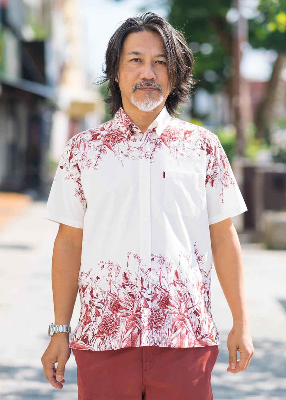 かりゆしウェア(沖縄版アロハシャツ) MAJUN - ラグジュアリーパネル