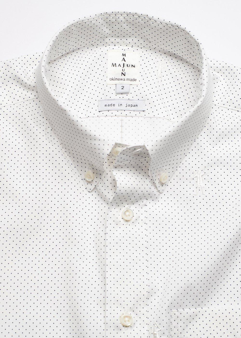 かりゆしウェア(沖縄版アロハシャツ) MAJUN - 水玉ドットカチャーシー L/S