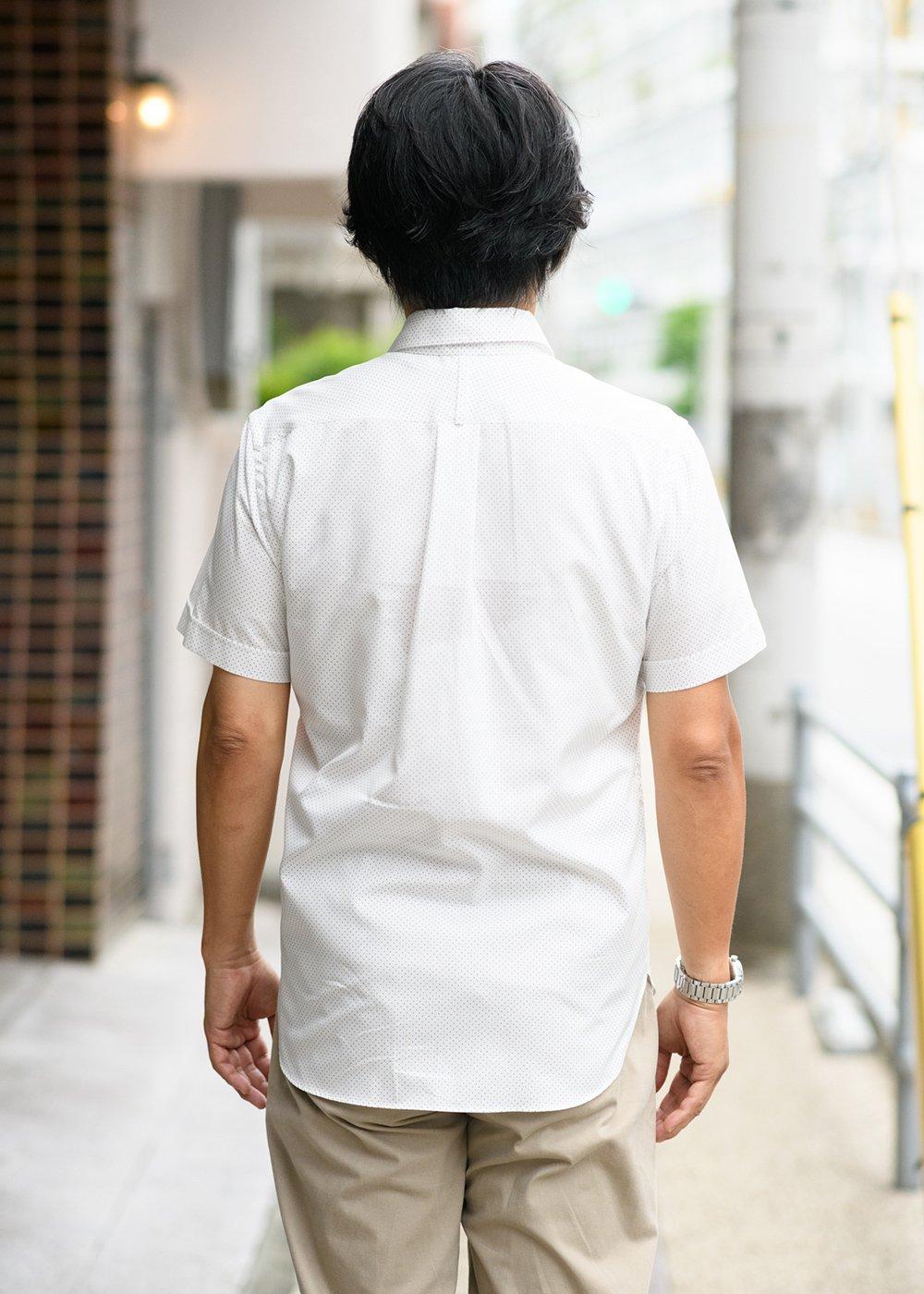 かりゆしウェア(沖縄版アロハシャツ) MAJUN - 水玉ドットカチャーシー