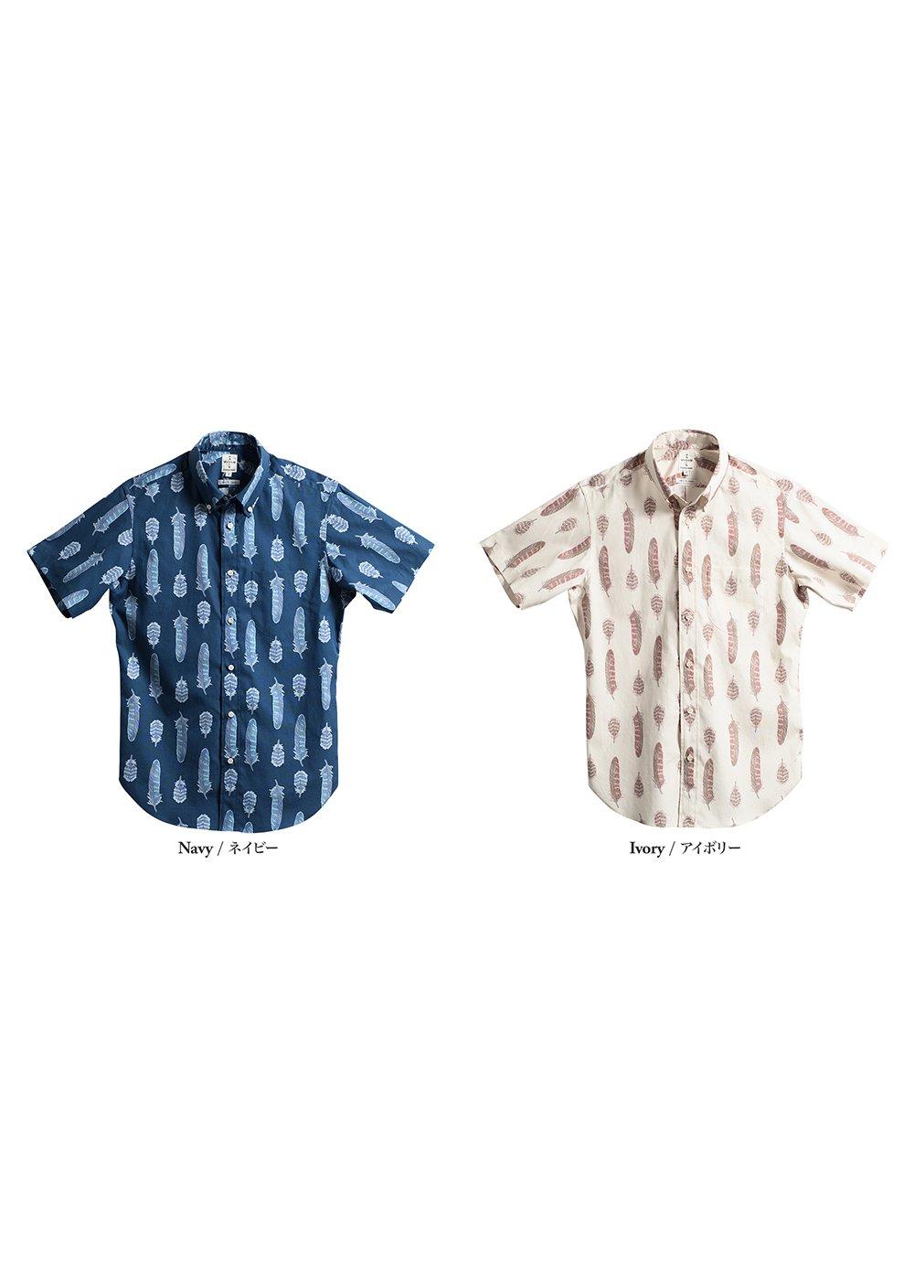 かりゆしウェア(沖縄版アロハシャツ) MAJUN - ヤンバルクイナノ羽根