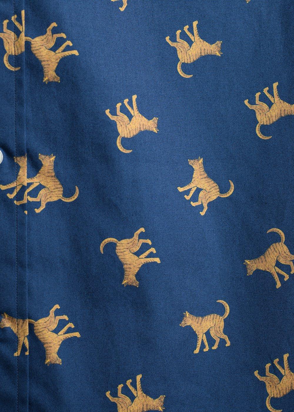 かりゆしウェア(沖縄版アロハシャツ) MAJUN - 琉球犬