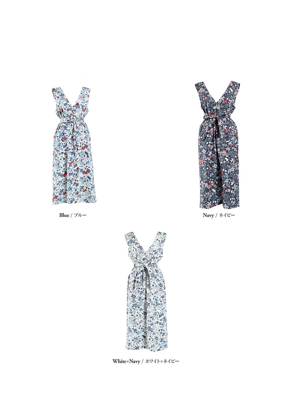 かりゆしウェア(沖縄版アロハシャツ) MAJUN - オキナワンデイドリーム(ジャンパースカート)