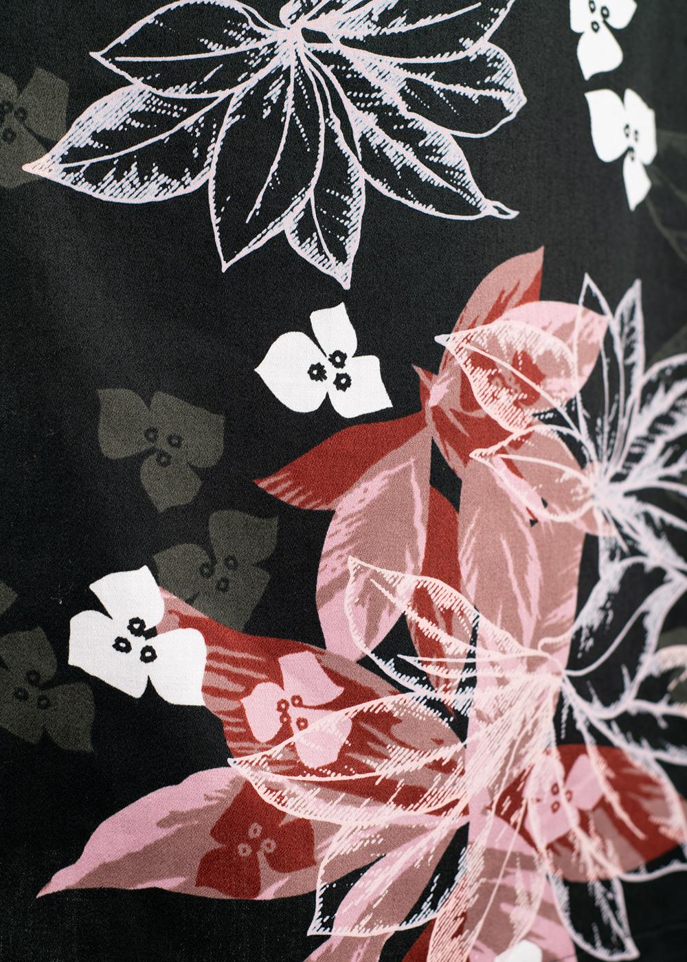 かりゆしウェア(沖縄版アロハシャツ) MAJUN - クロノエリーフ(ワンピース)