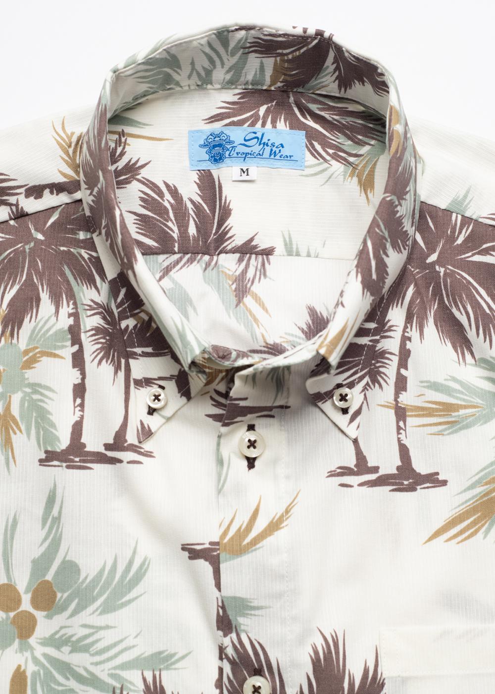 かりゆしウェア(沖縄版アロハシャツ) MAJUN - ココナッツツリー
