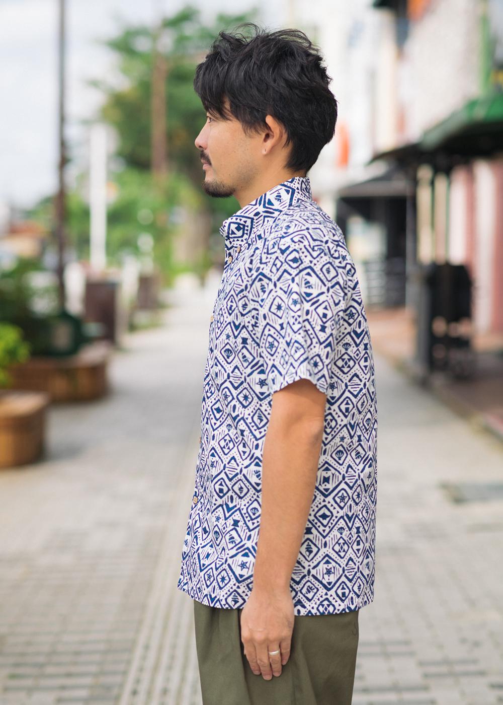 かりゆしウェア(沖縄版アロハシャツ) MAJUN - 海はづき