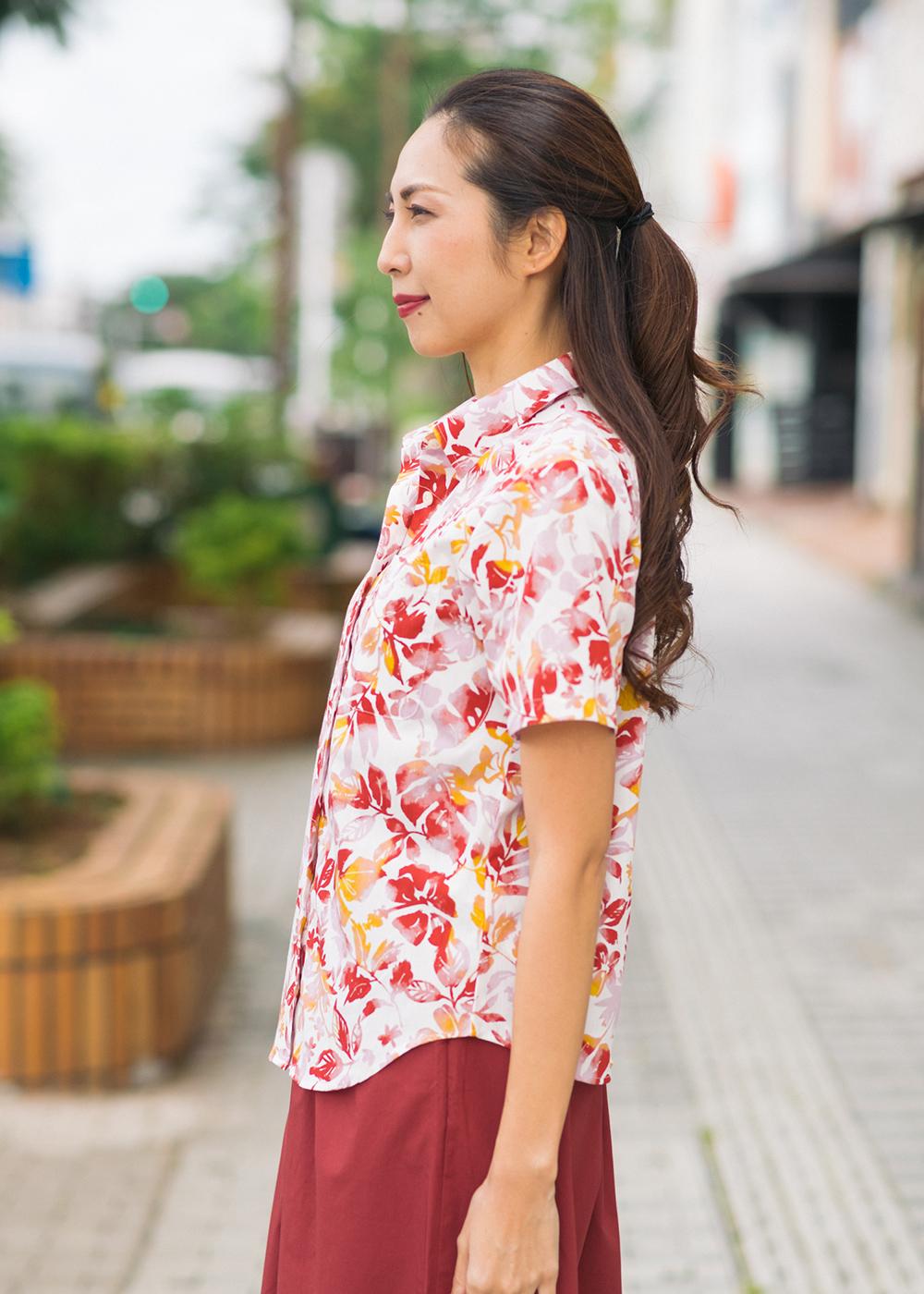 かりゆしウェア(沖縄版アロハシャツ) MAJUN - ウォーターガーデン
