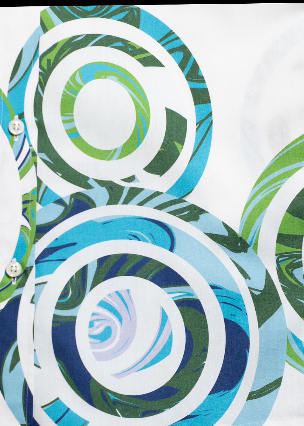 かりゆしウェア(沖縄版アロハシャツ) MAJUN - カンカラ三線と波紋