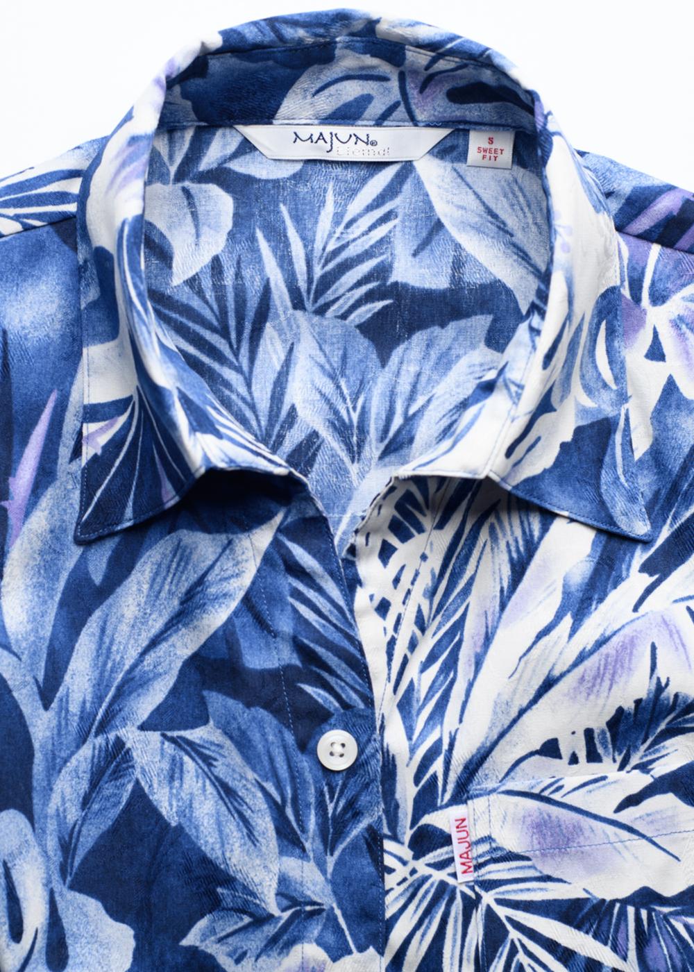 かりゆしウェア(沖縄版アロハシャツ) MAJUN - ミストジャングル