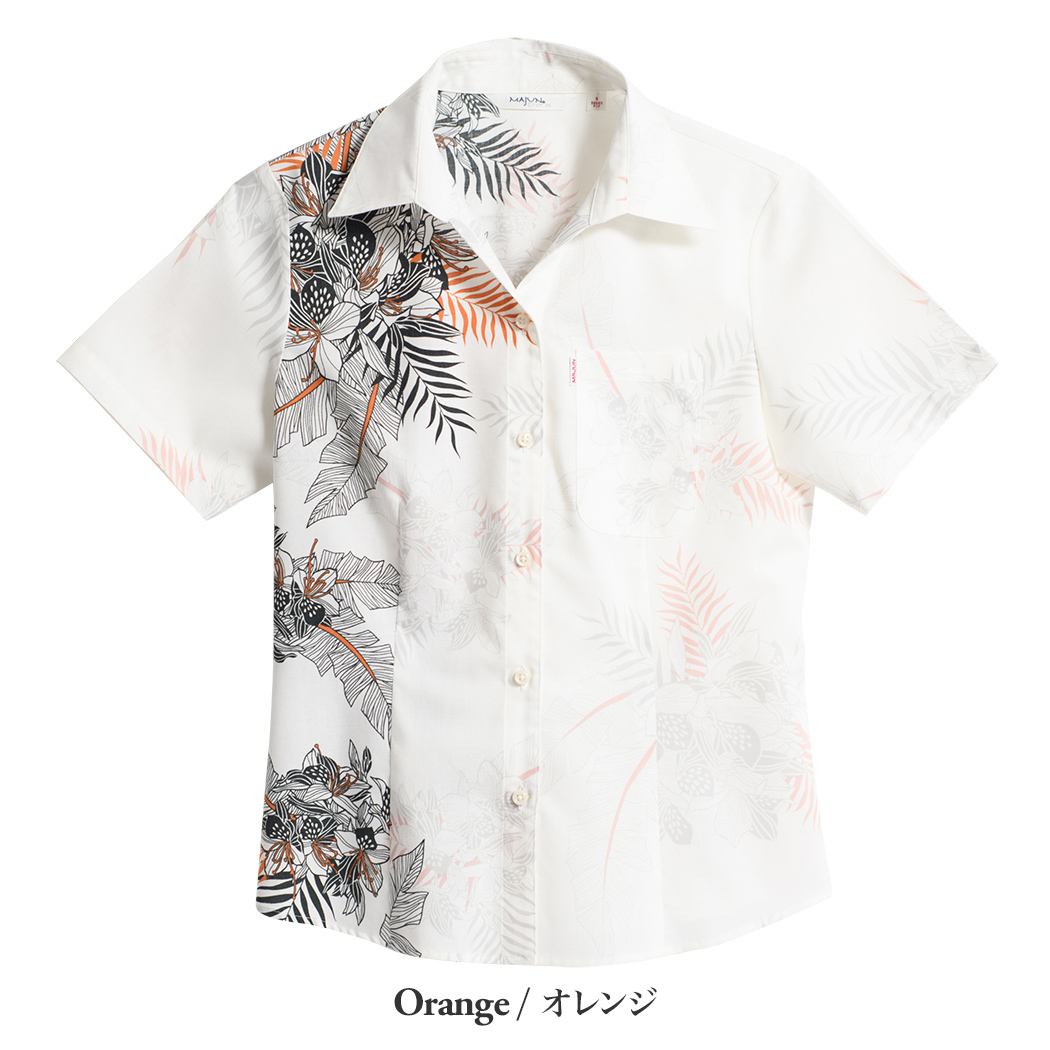 かりゆしウェア(沖縄版アロハシャツ) MAJUN - ボタニカルブーケ