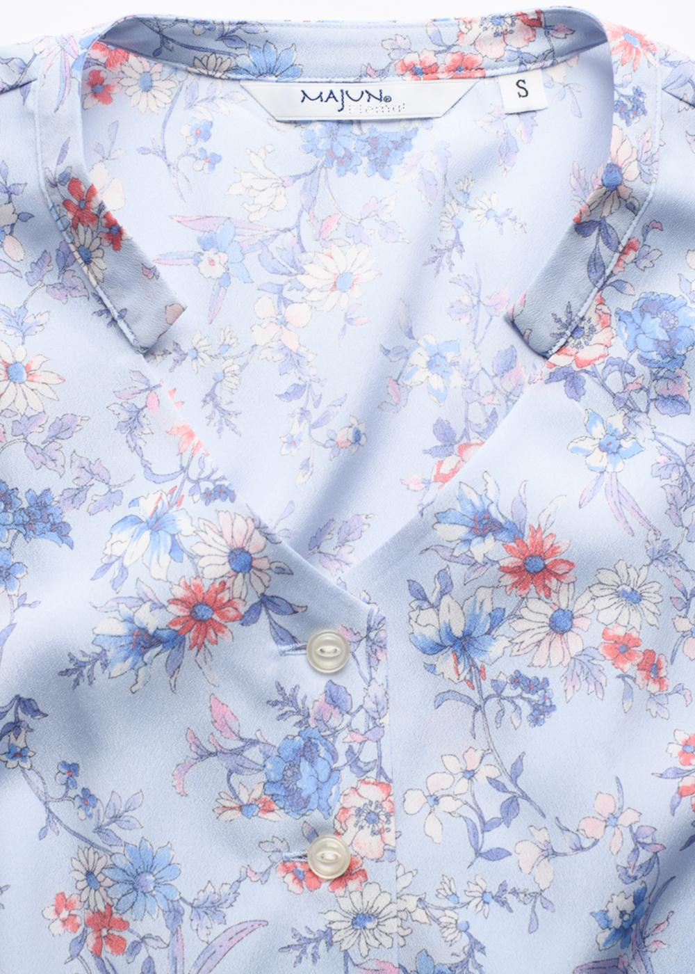 かりゆしウェア(沖縄版アロハシャツ) MAJUN - ビューティフルガーデン