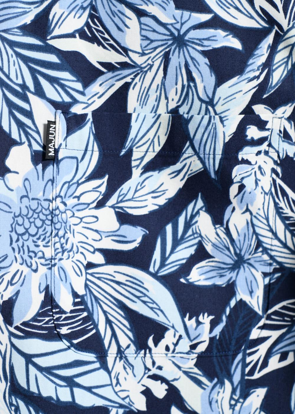 かりゆしウェア(沖縄版アロハシャツ) MAJUN - ボタニカルアレンジ