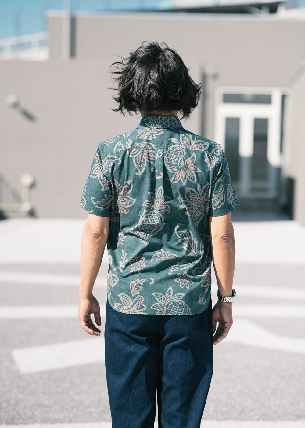 かりゆしウェア(沖縄版アロハシャツ) MAJUN - ヴィンテージパイン