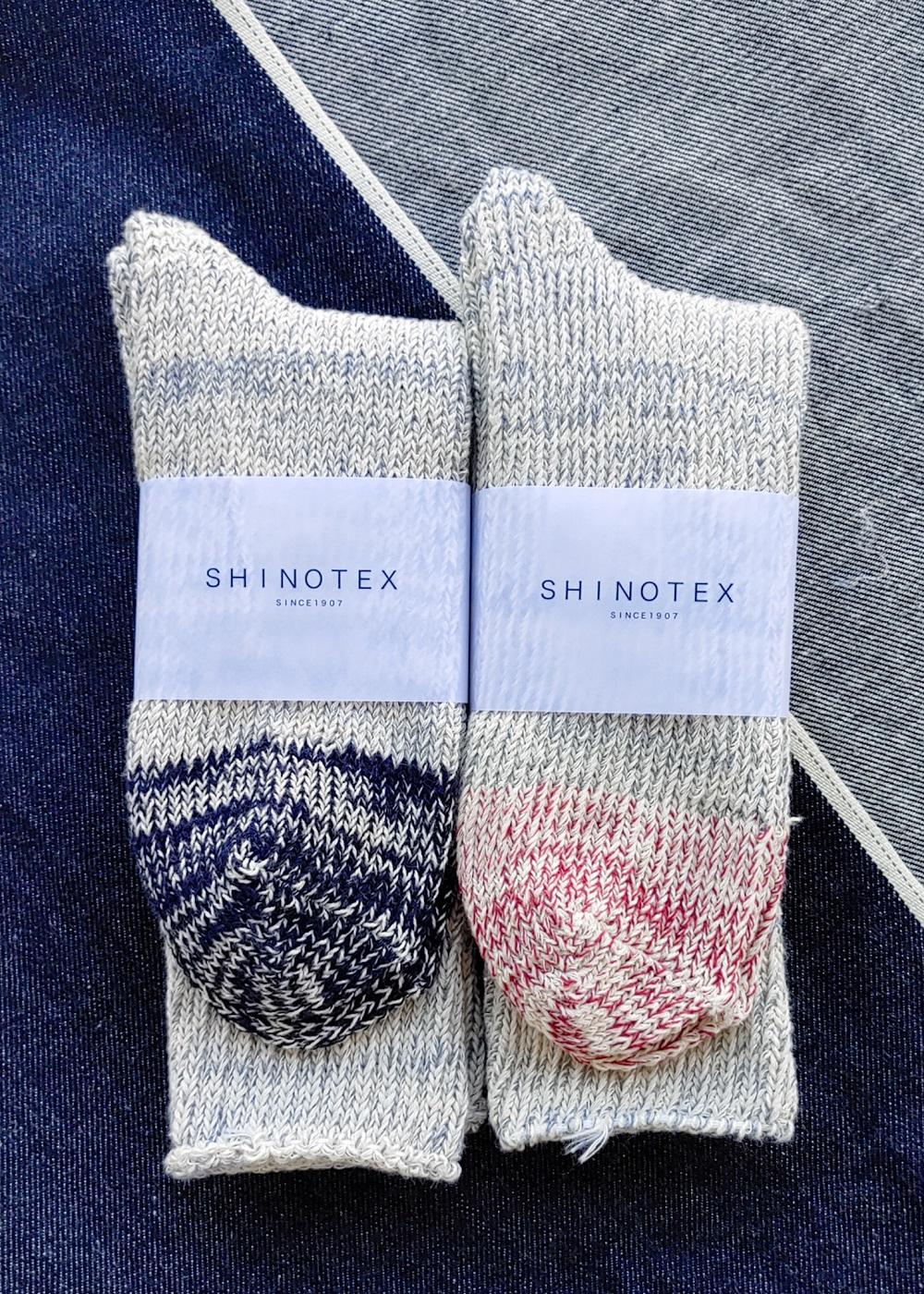 SHINOTEX デニムからできた靴下 ローゲージソックス(2トーン)