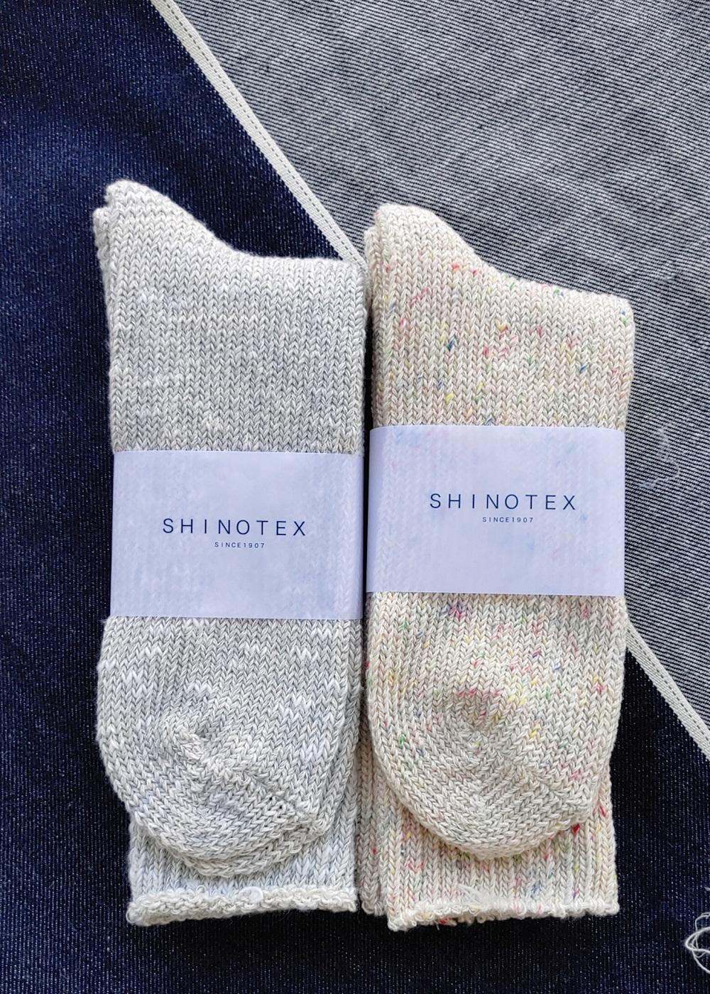 SHINOTEX デニムからできた靴下 ローゲージソックス