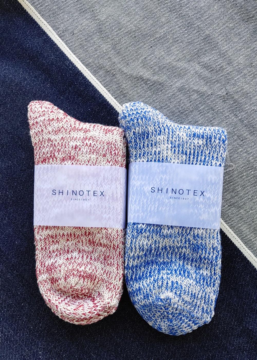 SHINOTEX デニムからできた靴下 ローゲージショートソックス
