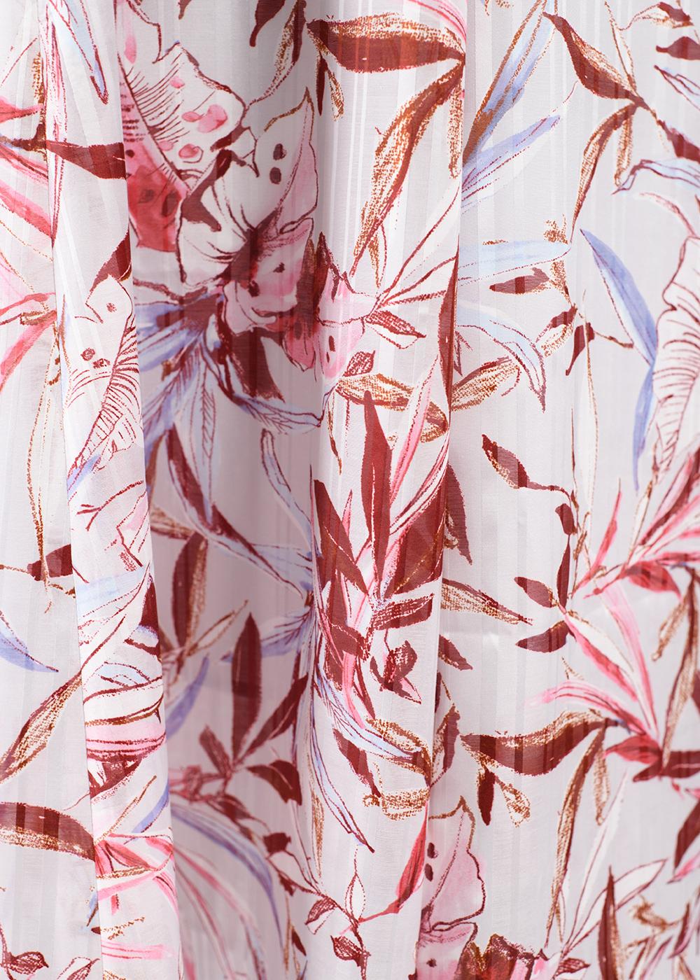 かりゆしウェア(沖縄版アロハシャツ) MAJUN - ウォーターカラーリーフ(ワンピース)