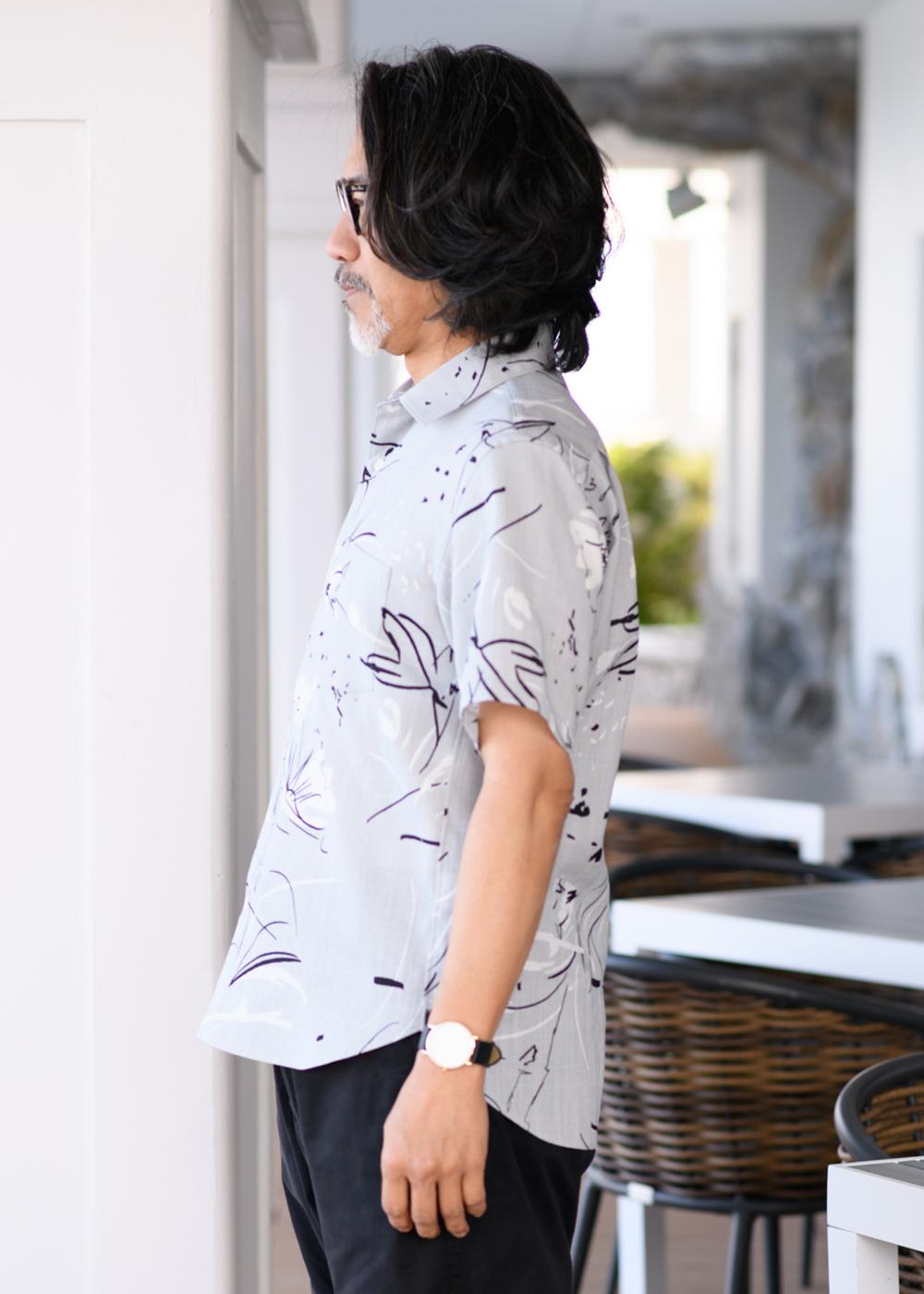 かりゆしウェア(沖縄版アロハシャツ) MAJUN - ドローイングリゾート