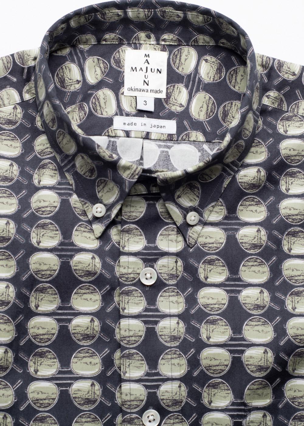 かりゆしウェア(沖縄版アロハシャツ) MAJUN - サングラス残波