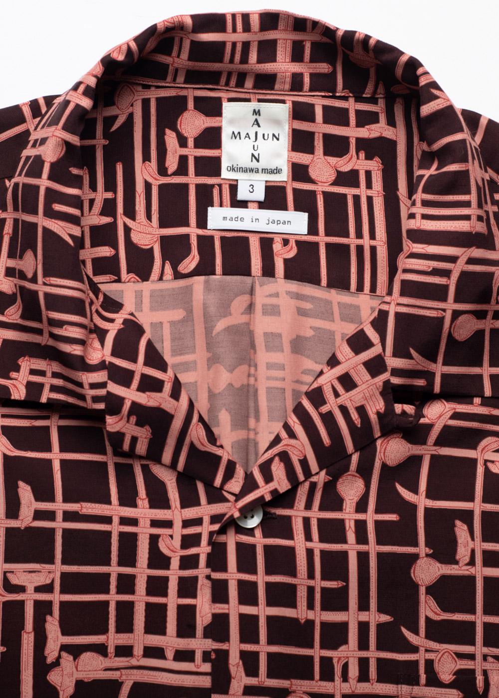 かりゆしウェア(沖縄版アロハシャツ) MAJUN - ジーファーチェック
