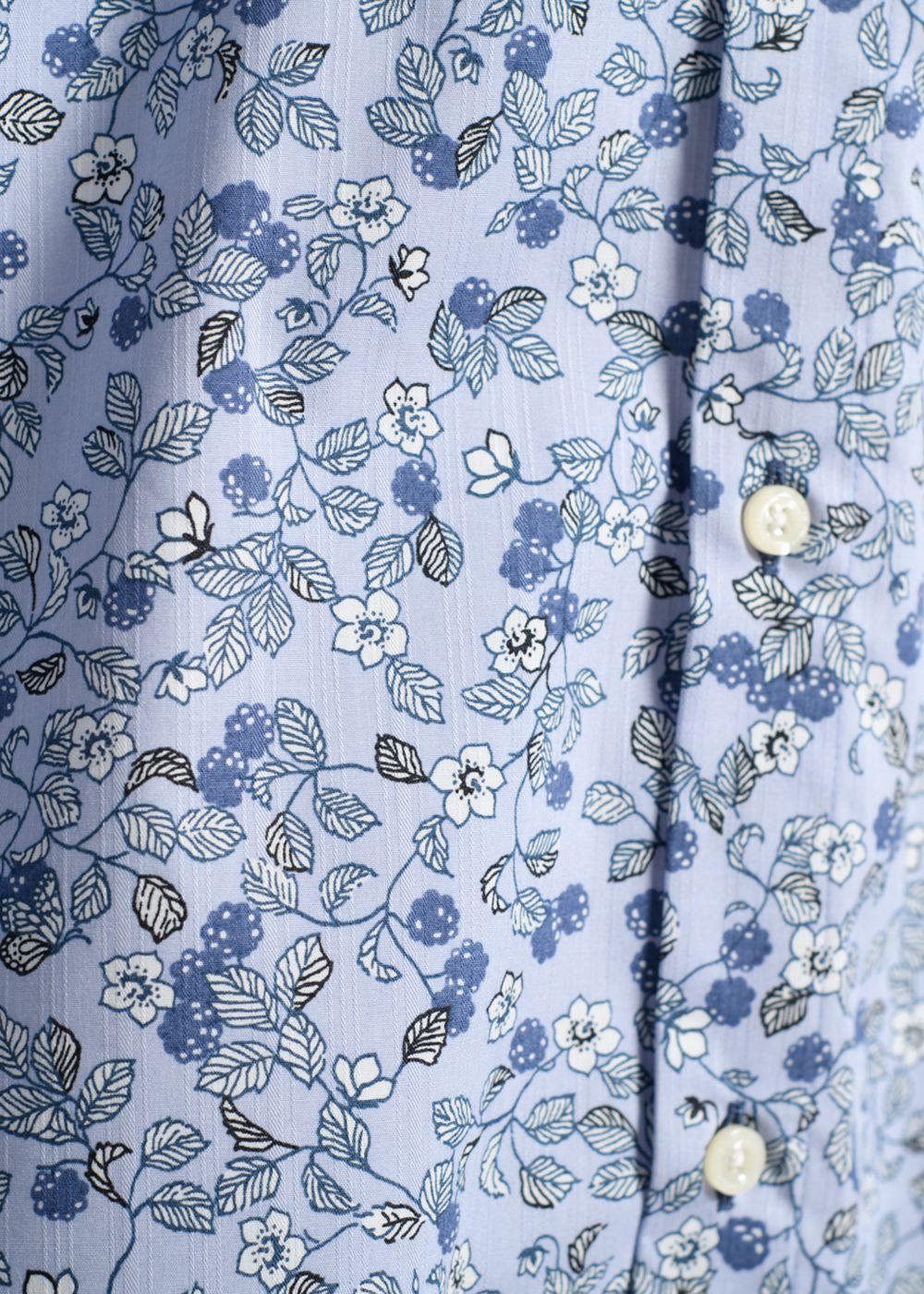 かりゆしウェア(沖縄版アロハシャツ) MAJUN - キイチゴマダラ