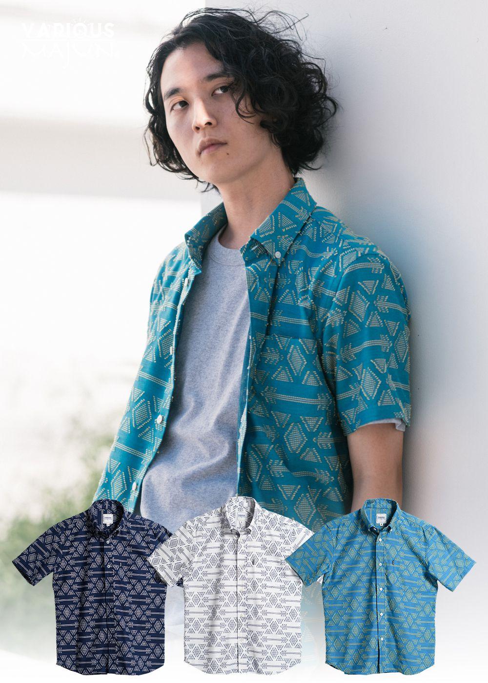 かりゆしウェア(沖縄版アロハシャツ) MAJUN - ハジチアンティーク