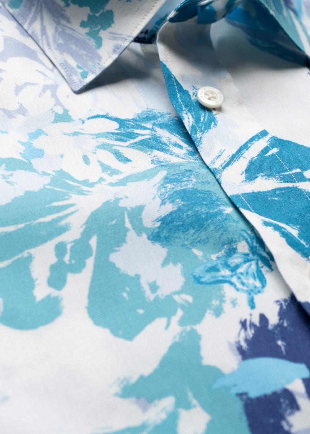 かりゆしウェア(沖縄版アロハシャツ) MAJUN - ペインティングデライト